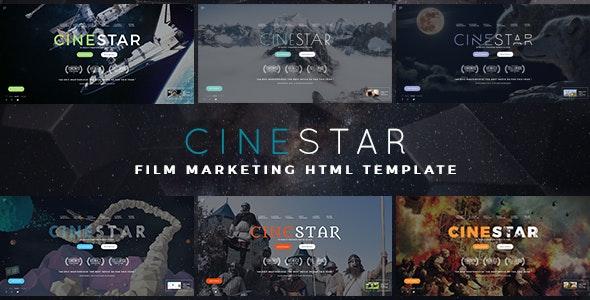 CINESTAR - Film Marketing Responsive Template - Film & TV Entertainment