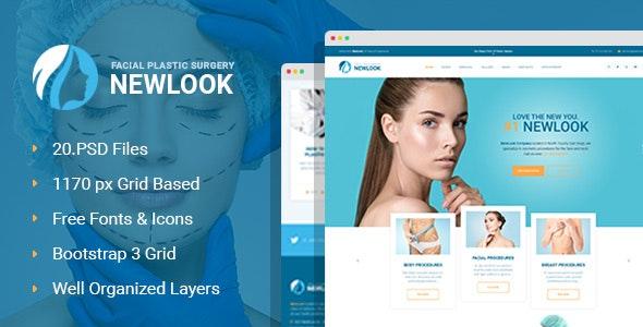 NewLook - Plastic Surgery Clinic PSD Template - Health & Beauty Retail