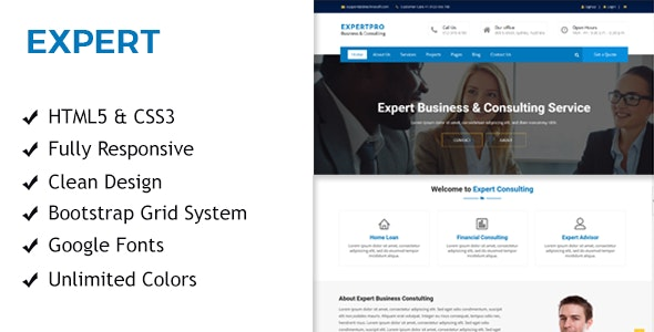 Expert - Business & Consulting Responsive HTML Template - Business Corporate