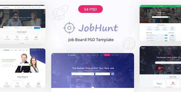 Jobhunt - The Most Popular Job Board PSD Template