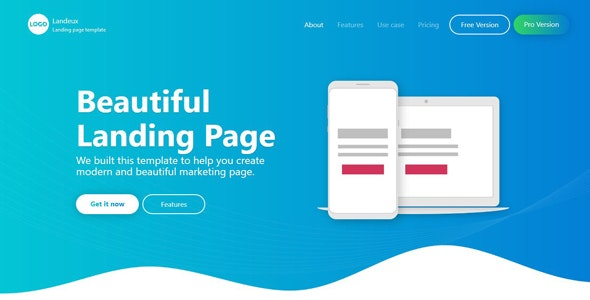 Landeux - Beautiful Technology Landing Page - Apps Technology