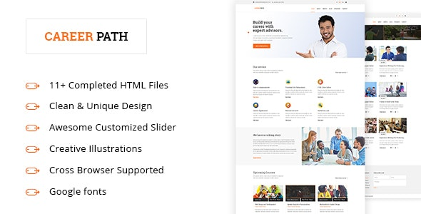 Career-Path - Career Guideline Educational HTML5 Template. - Business Corporate