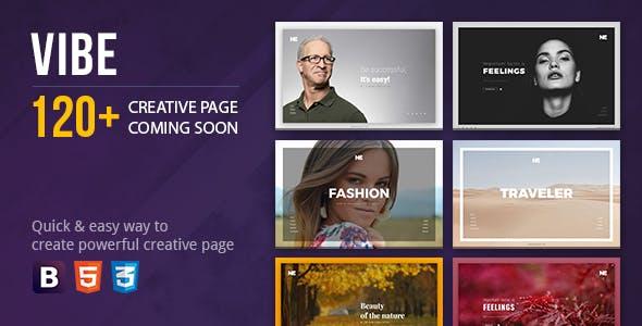 Vibe Coming Soon Creative Page