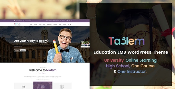 Taalem – Education LMS WordPress Theme - Education WordPress