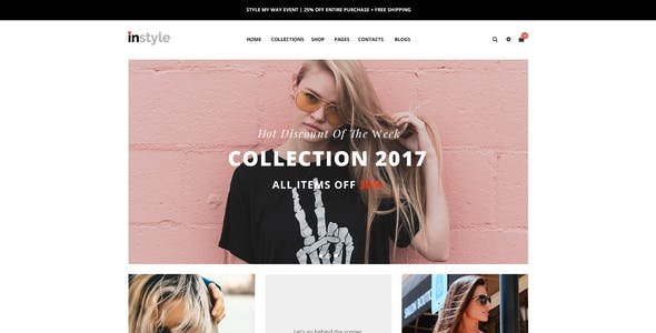 Instyle – eCommerce PSD Template