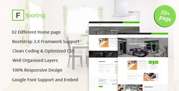 Flooring - Flooring, Tiling, Paving services HTML5 Responsive Template - Corporate Site Templates