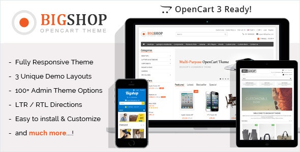 Bigshop - Multi-Purpose Responsive OpenCart Theme - OpenCart eCommerce