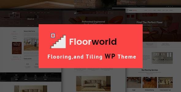 Floorworld - Flooring & Tiling Services WordPress Theme - Business Corporate