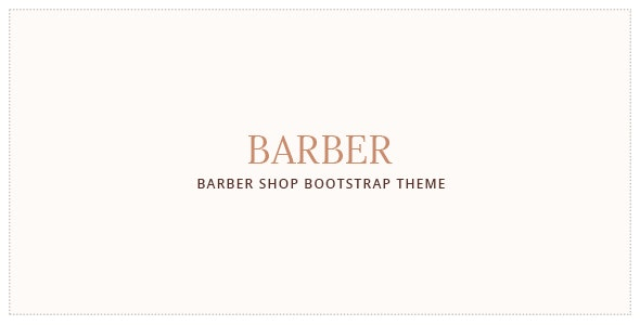 Barber Hair Salon Bootstrap Template