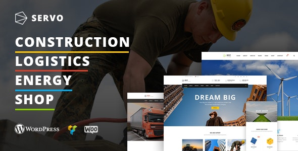 Servo - Construction / Logistics / Energy Engineering / Shop theme - Business Corporate