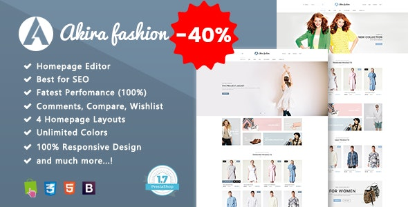 Akira - Multipurpose Prestashop 1.7 Theme - Fashion PrestaShop