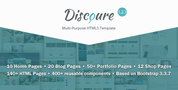 Discoure - UI Kit & Responsive Multipurpose HTML5 Template - Corporate Site Templates