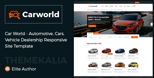 Car World - Vehicle Dealership Responsive Site Template - Business Corporate