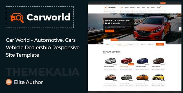 Car World - Vehicle Dealership Responsive Site Template