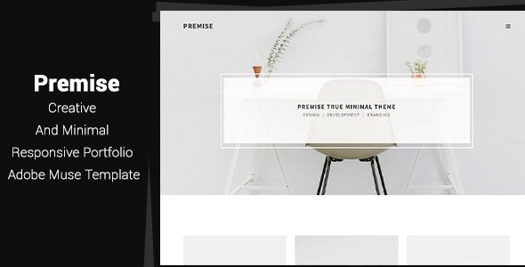 Premise - Creative and Minimal Portfolio Adobe Muse Template - Corporate Muse Templates