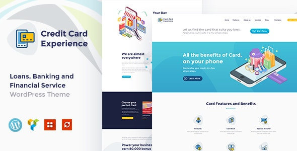Credit Card Experience | Loan Company and Online Banking WordPress Theme - Business Corporate