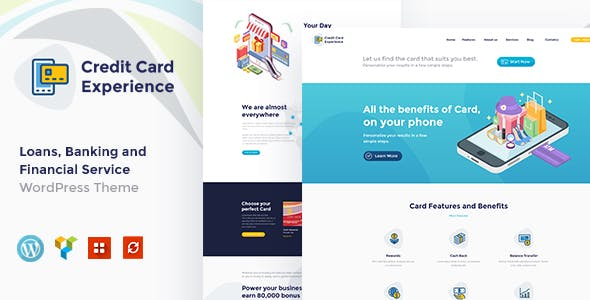 Credit Card Website Templates From Themeforest