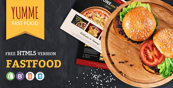 Yumme - Food Court Responsive Sectioned Shopify Theme - Shopify eCommerce