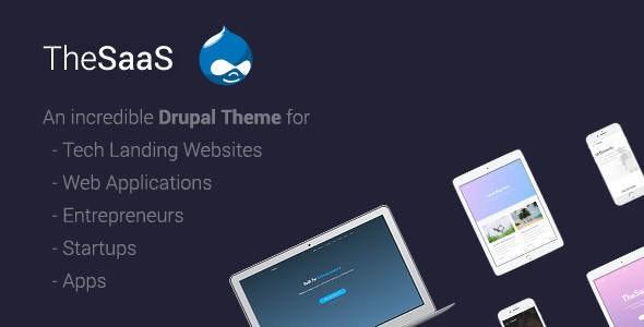 TheSaaS v1.5 – Responsive SaaS, Software & WebApp Drupal 8 Themes
