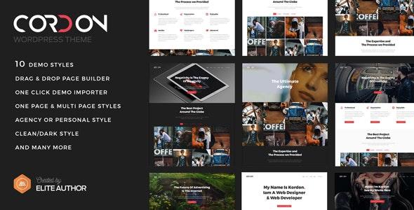 Cordon - Responsive One & Multi Page Portfolio Theme - Portfolio Creative