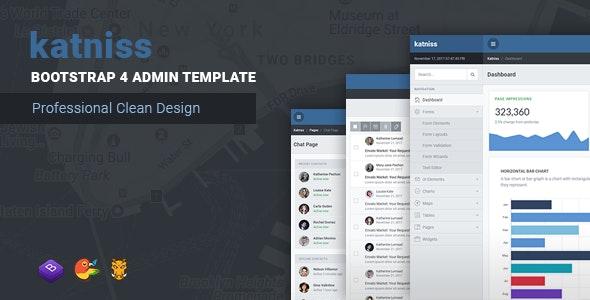 Katniss Responsive Bootstrap 4 Admin Template - Admin Templates Site Templates