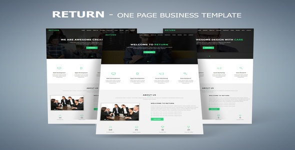 Return - One Page Business Template - Business Corporate