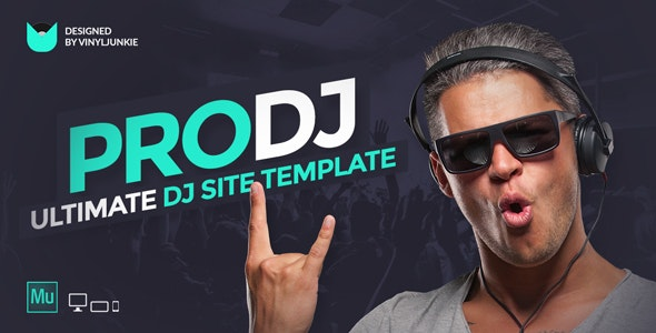 ProDJ - Creative DJ / Producer Site Muse Template - Creative Muse Templates