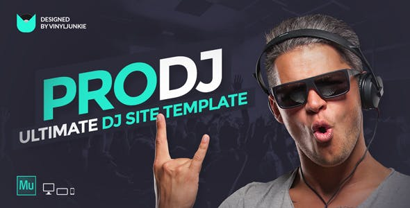 ProDJ - Creative DJ / Producer Site Muse Template