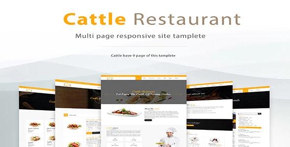 Cattle Restaurant | Restaurant HTML5 Template - Corporate Site Templates