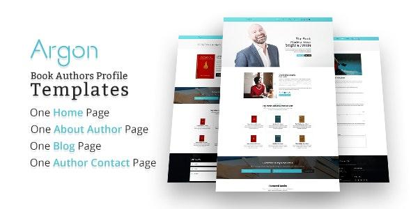 Argon - Book Author Portfolio, Landing, Blog PSD Template - Portfolio Creative