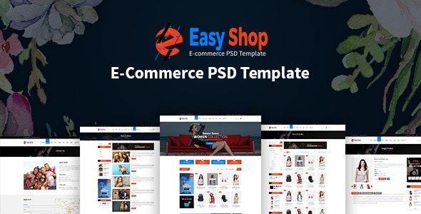 Easy Shop- eCommerce PSD Template - Photoshop UI Templates