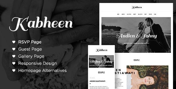 Kabheen - Modern Wedding WordPress Theme - Wedding WordPress