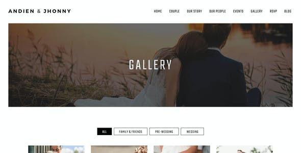 Kabheen - Modern Wedding WordPress Theme