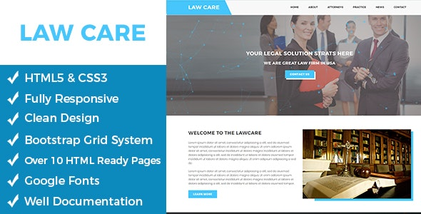 Lawcare – Lawyers Html Template - Corporate Site Templates