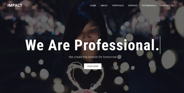 Impact - One Page Parallax Template - Technology Site Templates