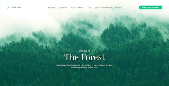 Rainforest Landing Page PSD Template