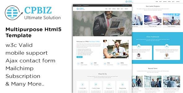 CPBIZ - Multipurpose HTML5 Template
