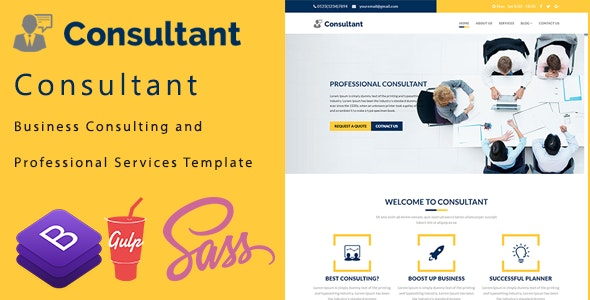 Consultant - Business Consulting and Professional Services Template - Business Corporate