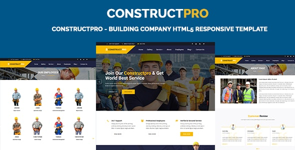 ConstructPro - Building Company HTML5 Responsive Template - Business Corporate