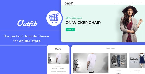 Outfit - Minimalist Responsive eCommerce Joomla template