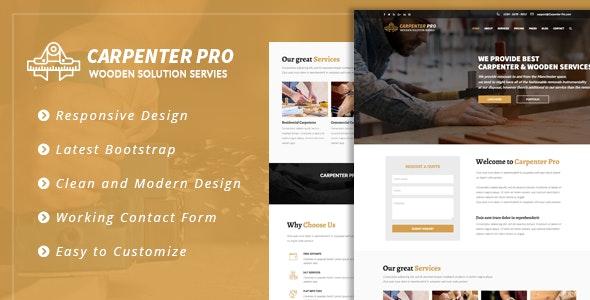 CarpenterPro - HTML for Carpenter & Craftsman - Corporate Site Templates