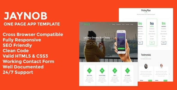 Jaynob - Responsive App Landing Page - Technology Site Templates