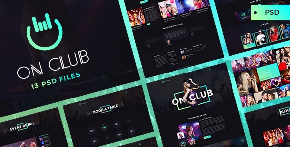 OnClub - Bar PSD Template - Nightlife Entertainment