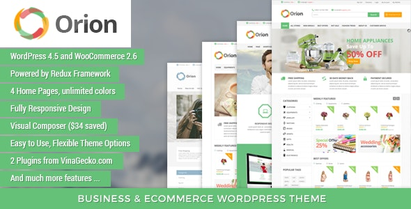 VG Orion - Business & eCommerce WordPress Theme - WooCommerce eCommerce