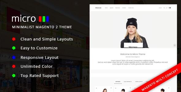 Micro - Minimalist Magento 2 Theme - Health & Beauty Magento