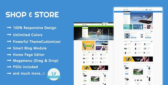 Shop & Store - Electronics & Digital Responsive PrestaShop 1.7 Theme - Technology PrestaShop
