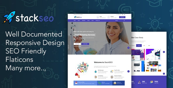 StackSEO – Internet Marketing and SEO Responsive Template - Marketing Corporate