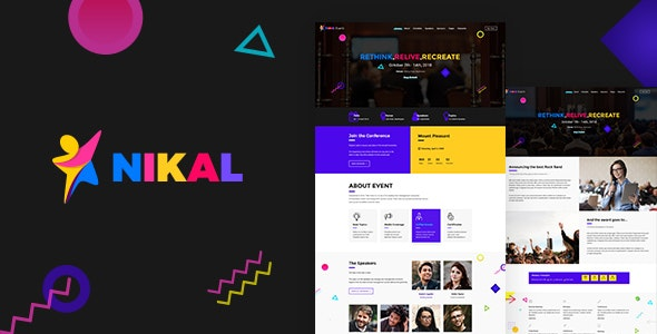 Nikal - Event, Conference Theme - Corporate WordPress