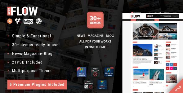 Flow News - Magazine and Blog WordPress Theme