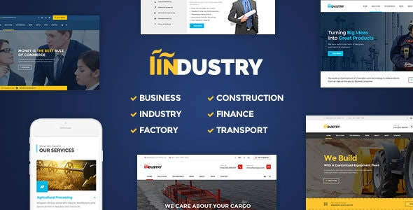 Industry - Factory, Construction WordPress Theme - Business Corporate